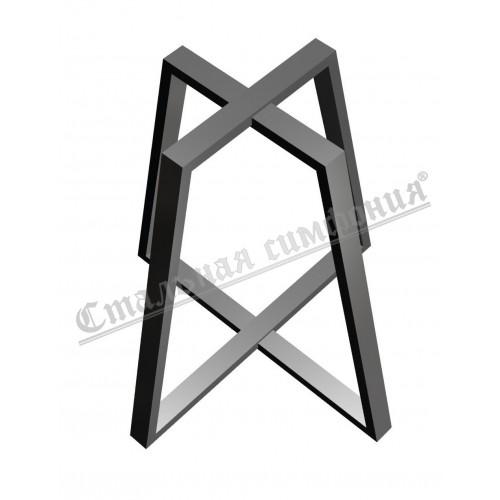 """Подстолье з металу в стилі лофт під замовлення на Віскозній,3. """"Самая полезная металлобаза"""" зробе якісне подстольє для Вашого столу"""